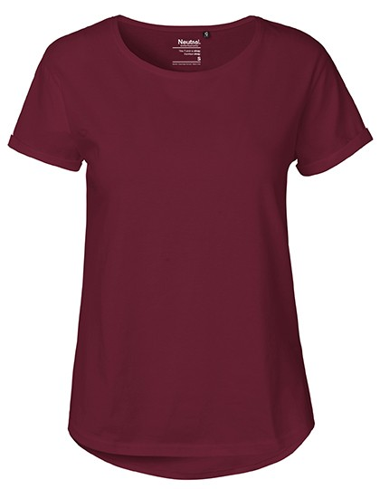 Ladies` Roll Up Sleeve T-Shirt